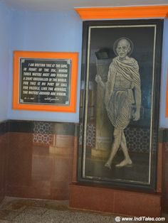 Gandhi portrait Tourist Places TOURIST PLACES : PHOTO / CONTENTS  FROM  IN.PINTEREST.COM #TRAVEL #EDUCRATSWEB