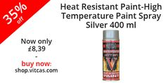 Heat Resistant Paint-High Temperature Paint Spray-Silver now 35% off. Buy now: http://shop.vitcas.com/vitcas-heat-resistant-paint-high-temperature-paint-spray-silver-704-p.asp