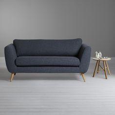 Buy Sapphire Plain Tetrad Harris Tweed Hendricks Small Sofa from our Sofas & Sofa Beds range at John Lewis & Partners. John Lewis Sofas, Sofa Bed, Couch, Small Sofa, Harris Tweed, Scandinavian Design, Mid-century Modern, Love Seat, Furniture Design