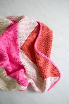 DIY Flying Geese Knit Baby Blanket