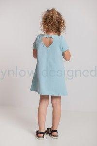 Trapezowa sukienka z kieszeniami miętowa