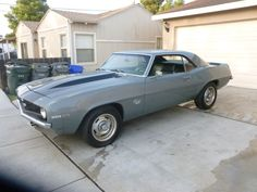 Clean on the outside, with a bit extra under the hood. (1969 Chevrolet Camaro)