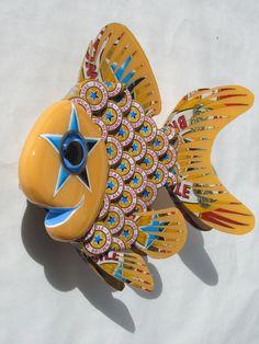 Goldfish Art Metal Bottle Cap Fish Wall Art by EricsEasel on Etsy
