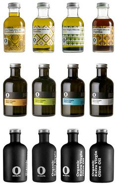olive oil package, 3 ways