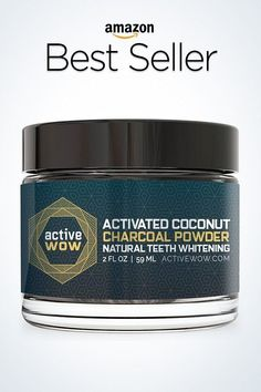 Active Wow Teeth Whitening Charcoal Powder Natural #teethwhiteningdiycharcoal