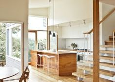 love the feel of this kitchen