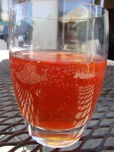 chef charity's strawberry shrub