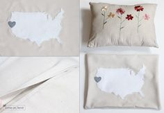 DIY pillow, i want to take the time to learn how to do stuff like this, sooo cute and fun for summer afternoons