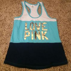 VS Love Pink Tank Excellent condition Victoria's Secret Tops Tank Tops