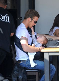Cam Gigandet  - Hot Dad & Baby - cutest thing ever!
