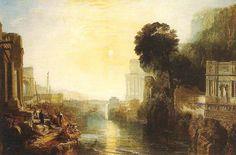 Didone costruisce Cartagine, William Turner, 1815. Olio su tela, 155,5x230 cm. Londra, National Gallery