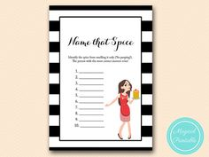 Name that spice guess the spice game Modern by MagicalPrintable