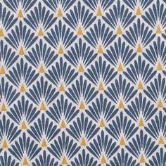 Coussin BLEU électrique motifs géométriques-Aveugle Ameublement /& Craft Tissu TAPISSERIE
