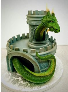 How dragony can we make an 8 inch round cake ? Fantasy Cake, Dragon Birthday, Dragon Party, Dragon Cakes, Sculpted Cakes, Dinosaur Cake, Just Cakes, Unique Cakes, Fancy Cakes