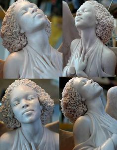 {Grow Lust Worthy Hair FASTER Naturally}>>> www.HairTriggerr.com <<<      I Love the Definition of Her Hair...Mark Newman Statue -Natural Hair Art