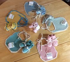 Pima Cotton Baby Bib and Stay On Bootie Sets by jwickey on Etsy