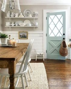 38 Perfect Farmhouse Style Kitchen Table Design Ideas - HOUSEDCR