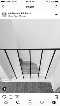 Thin vertical banister in matte black Rise And Run, Grant Park, Banisters, Home Renovation, Matte Black, Entryway Tables, Virginia, Stairs, Furniture