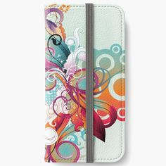 'Ornamental print' iPhone Wallet by knovadesign Phone Covers, Iphone Wallet, It Works, My Arts, Notebook, Ornaments, Art Prints, Printed, Awesome