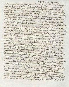 Dernière lettre de Marie-Antoinette - également appelée testament de Marie-Antoinette, adressée à sa belle-soeur Madame Elisabeth / Page 1.