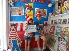 We found Waldo!  Waldo Photo booth at The Book Nook in Brenham, TX.  #findwaldolocal