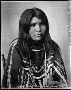 ocona Sinipawsoyissi Otokeman, Sarcee woman, near Calgary, AB, about 1885:
