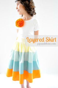 How to make a layered skirt!