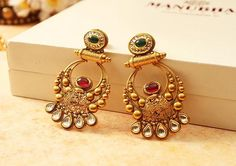 Gold Jewelry Design In India Gold Earrings Designs, Gold Jewellery Design, Designer Jewellery, Manubhai Jewellers, Gold Pendent, Clean Gold Jewelry, Jewelry Patterns, Sterling Silver Earrings, 925 Silver