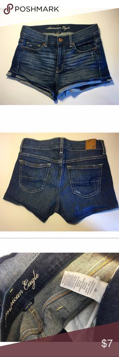 AMERICAN EAGLE stretch denim blue jean shorts Gently worn, stretch denim shorts American Eagle Outfitters Shorts Jean Shorts