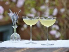 Lavender Lemon Drop recipe from Geoffrey Zakarian via Food Network plus recipe for limoncello