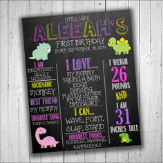 Babies First Birthday Sign Chalkboard by PartyPrintableInvite