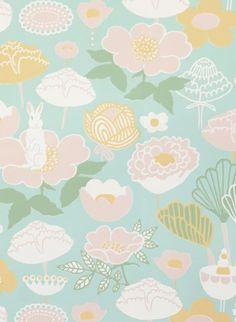 Majvillan Tapete Little Light - Turquoise/ Yellow/ Pink