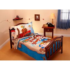 Jake and the Neverland Pirates 4 Piece Microfiber Toddler Bed Set Nautical Bedding Sets, Beach Bedding Sets, Crib Bedding Sets, Comforter Sets, Comforters, Pirate Bedding, Pirate Bedroom, Kids Bedroom, Bedroom Ideas