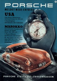 DOWNLOAD // Vintage Porsche Poster