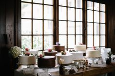 Wedding cakes by Milford Baking Company at a Waldenwoods Resort wedding, photography by Ann Arbor and Detroit wedding photographer, First Comes Love Photo