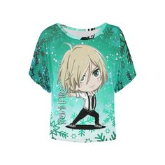 Yuri Plisetsky Women's Batwing-Sleeved Blouse T shirt (Model T43)