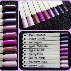 Sensationail Gel Polish, Nail Polish, Sculptured Nails, Purple Orchids, Gel Color, Lilac, Manicure, Berries, Lipstick