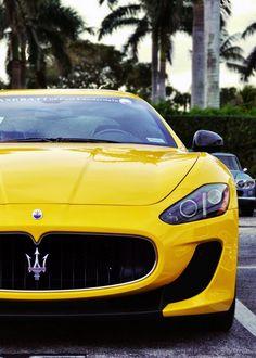 Beautiful Yellow #Maserati Gran Turismo