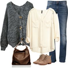 """""""Bulky Sweater Day"""" by elise-olivia on Polyvore"""