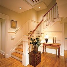 wainscot going up stairs