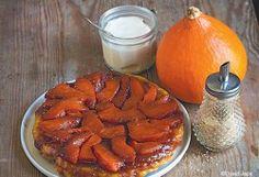 """La tarte Tatin au potimarron.  Recette extraite du livre""""Gâteaux aux légumes""""dans l'ouvrage de Lene Knudsen"""