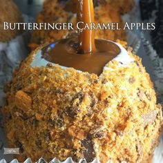 Butterfinger Caramel Apples