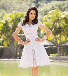 vestido branco- perfeito para passeio da tarde de verão