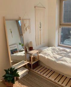 Room Ideas Bedroom, Small Room Bedroom, Bedroom Decor, Korean Bedroom Ideas, Minimalist Room, Aesthetic Room Decor, Cozy Room, Dream Rooms, My New Room