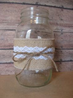 Burlap Rustic Wedding Decor | Recycled Bride.....cute to put flowers in
