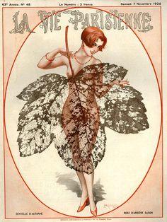 La Vie Parisienne November 1925 Illustration by Cheri Herouard