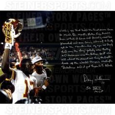 Doug Williams Handwritten/Signed Super Bowl XXII Story 16x20 Photo Steiner COA