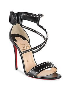 Christian Louboutin Choca Spikes 100 Leather Sandals