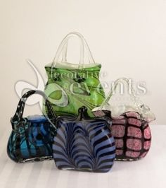 glass handbag vases