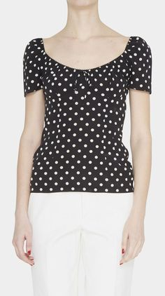 Dolce & Gabbana Black And White Top